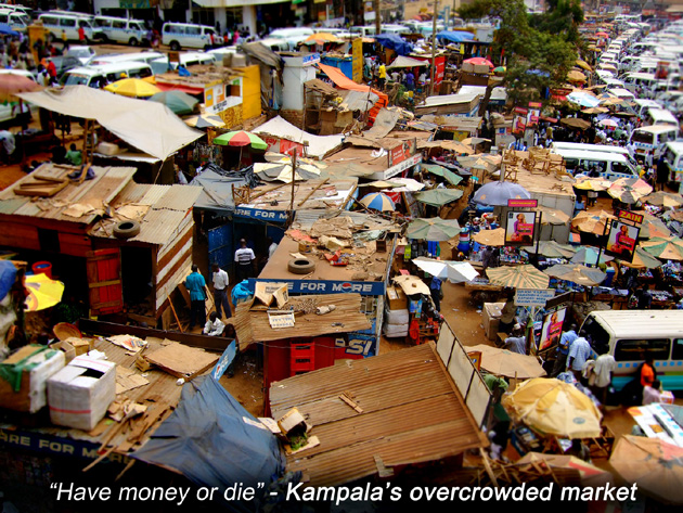Kampala's overcrowded market