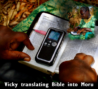 Vicky Waraka translating Bible into Moru 2