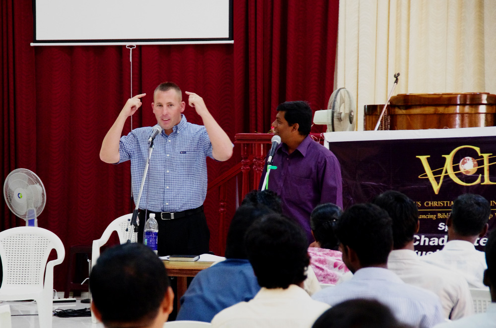 Chad Krittenbrink, Pastor Training, India