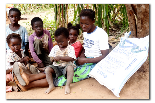 Margaret Sakala with her five fatherless children.