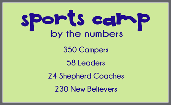 Sports Camp By the Numbers