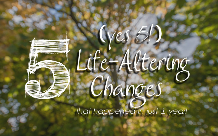 Five (yes, five!)Life Altering Changes that Happened in Just One Year