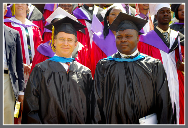 ITMI Director, Steve Evers with Muhindo Kawede at an ISM Graduation.