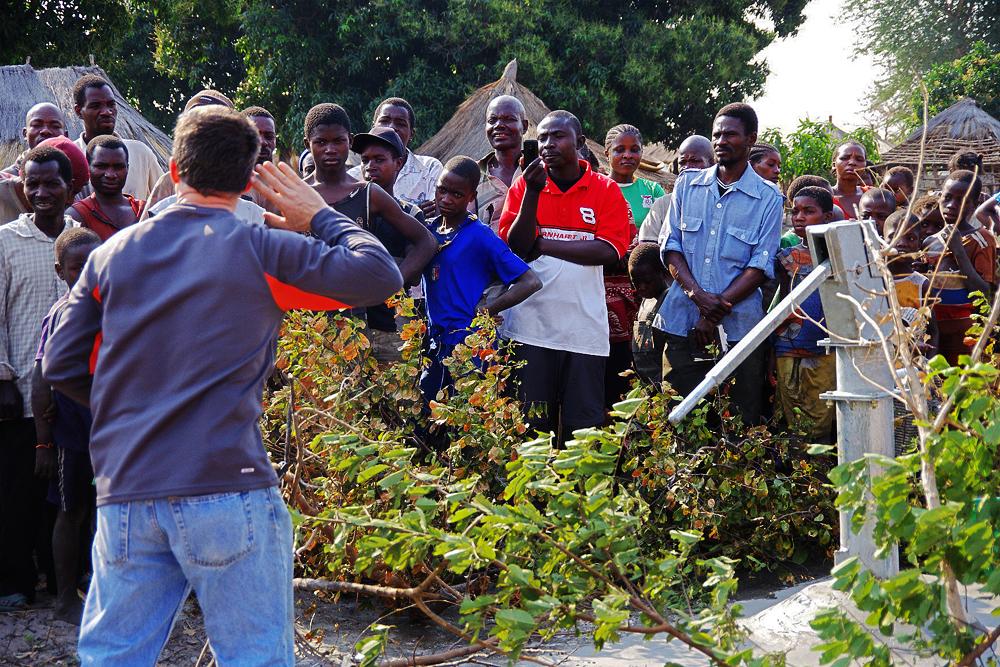 Preaching, Zambia, Lukulu