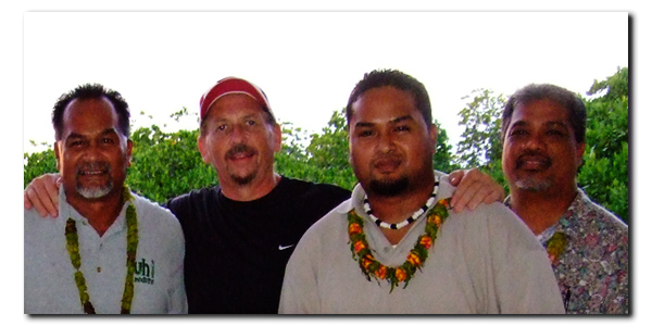 Gary With Three Micronesians