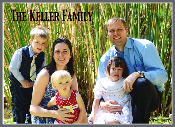 The Keller Family with Frame