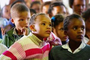 School children at Oneseepkans, Northern Cape