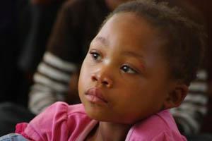 girl listens to gospel
