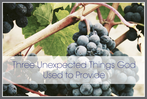 11/14 – Three Unexpected Things God Used to Provide