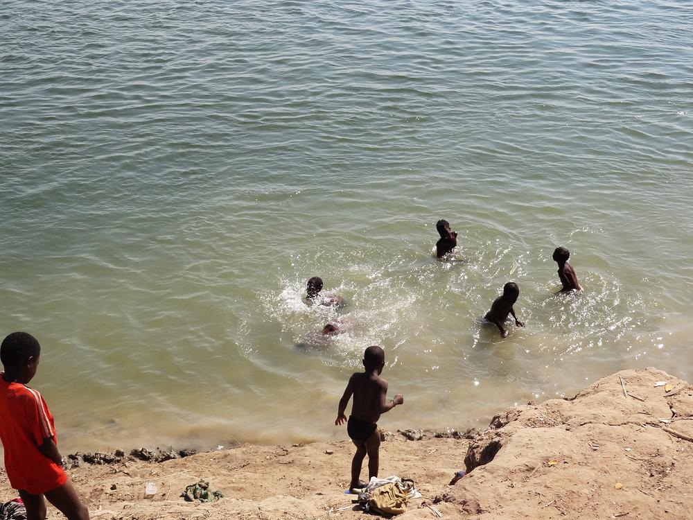 Bathing, Zambezi River, Lukulu, Zambia