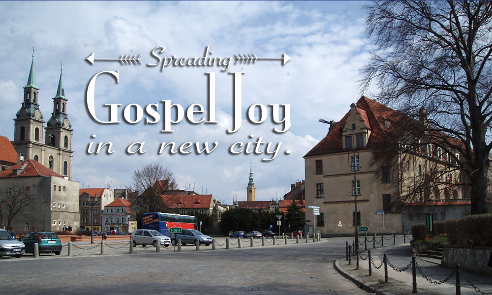 Spreading Gospel Joy to a New City