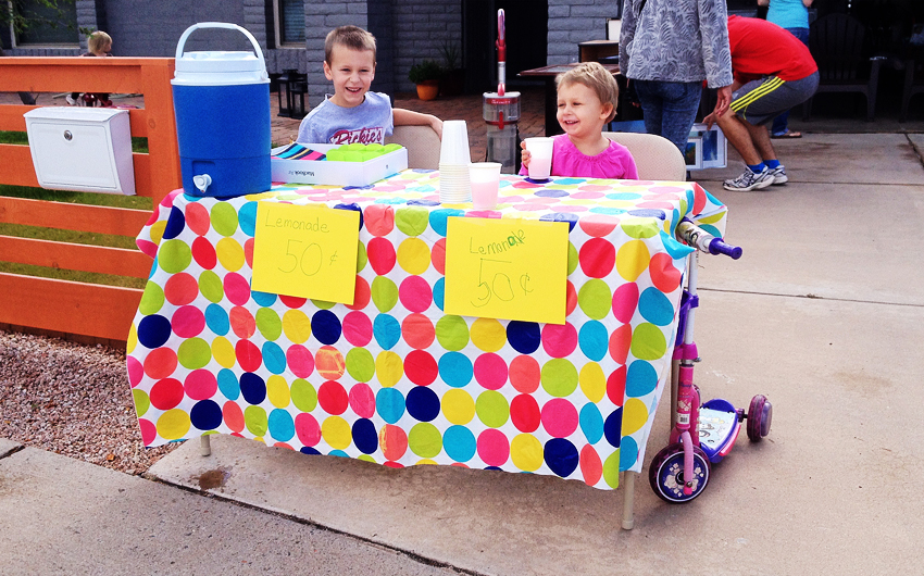lemonade stand, kids