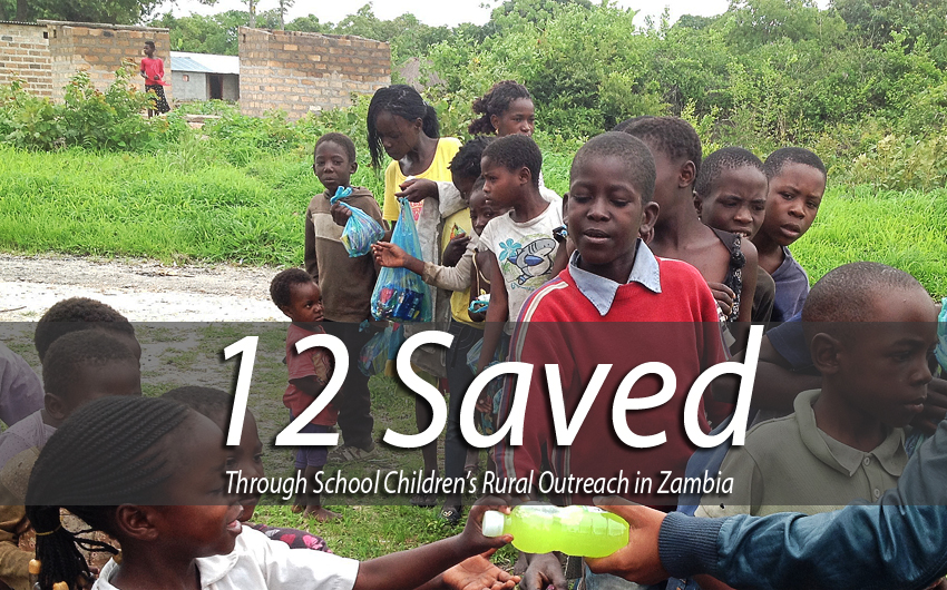 12 Saved Through School Children's Rural Outreach in Zambia