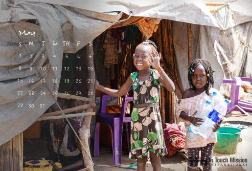 Desktop Calendar, South Sudan, Refugee, Jahim Buli, Steve Evers