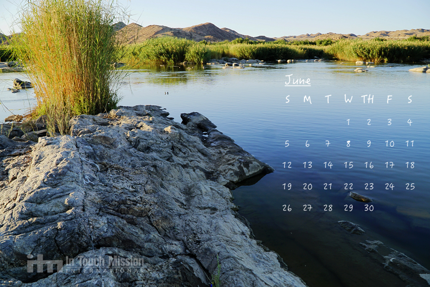 Desktop Calendar, Orange River