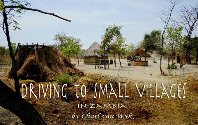 Driving to Small Villages in Zambia