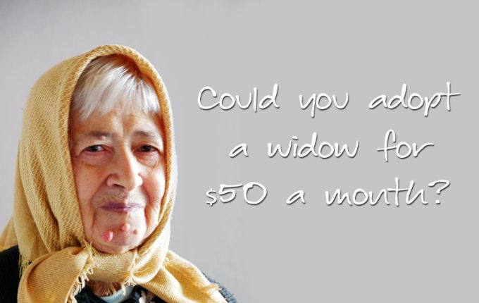 Could You Adopt a Widow for $50 a month?