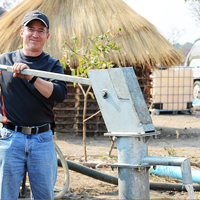 clean, safe, water project, Zambia, Steve Evers