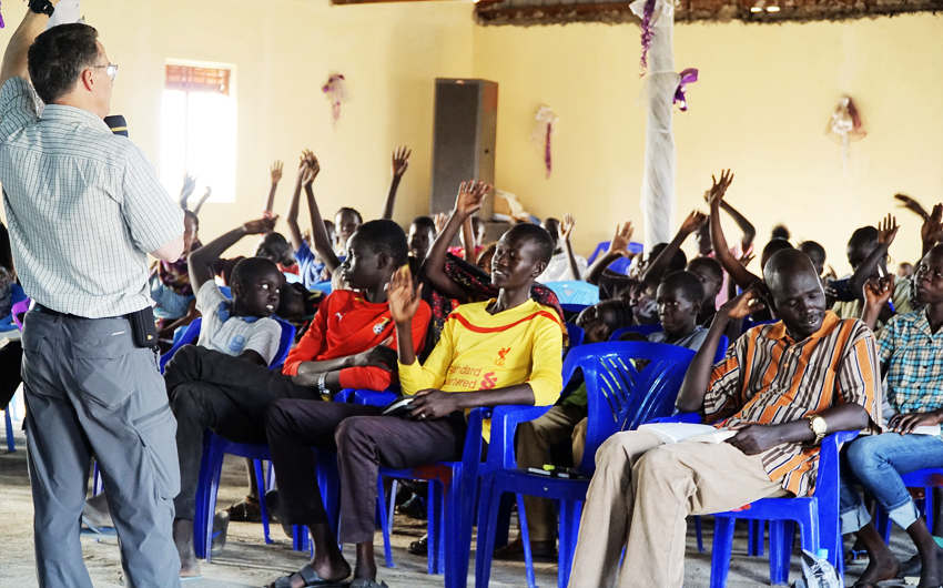 Steve Evers, Jahim Buli, South Sudan, youth
