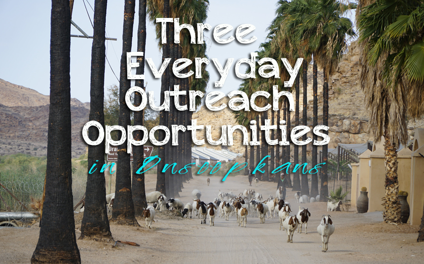 3 Everyday Outreach Opportunities in Onseepkans