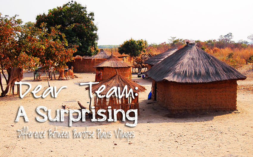 Dear Team: A Surprising Difference Between Barotse Plains Villages