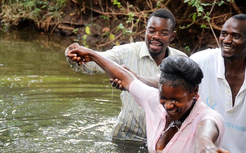 Keller, Zambia, Baptism
