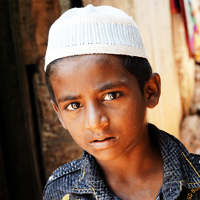 Feature, Muslim boy, David and Taru, India