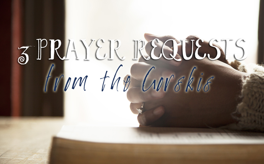 Three Prayer Requests from the Gorskis