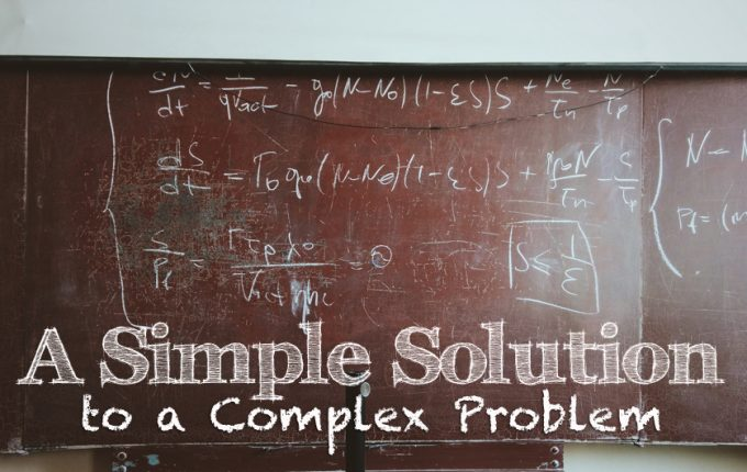 A Simple and Cost-effective Solution to a Complex Problem