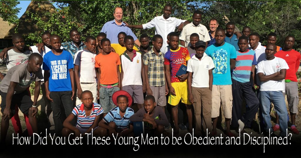 How Did You Get These Young Men to be Obedient and Disciplined?