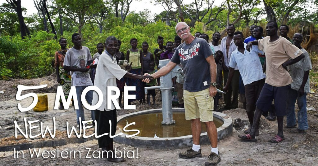 5 MORE New Wells in Western Zambia!