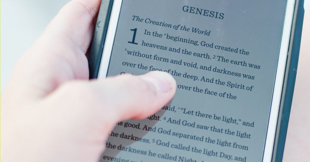 bible, iphone