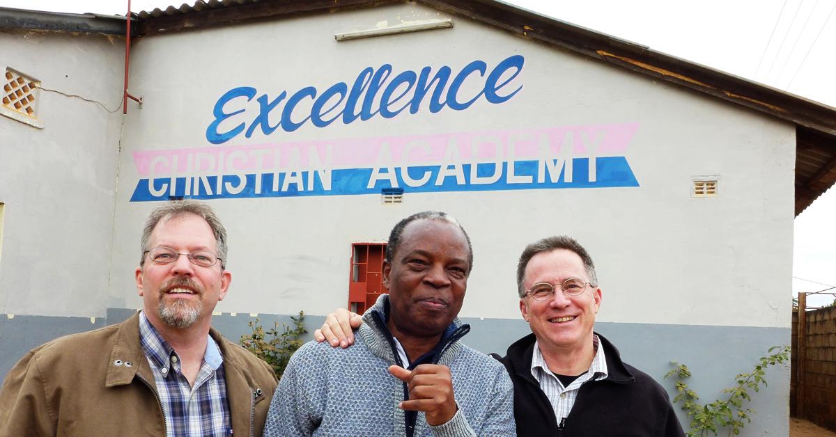 Steve Evers, Kent Reisenauer, Eugene Kalunga, ECA, Zambia