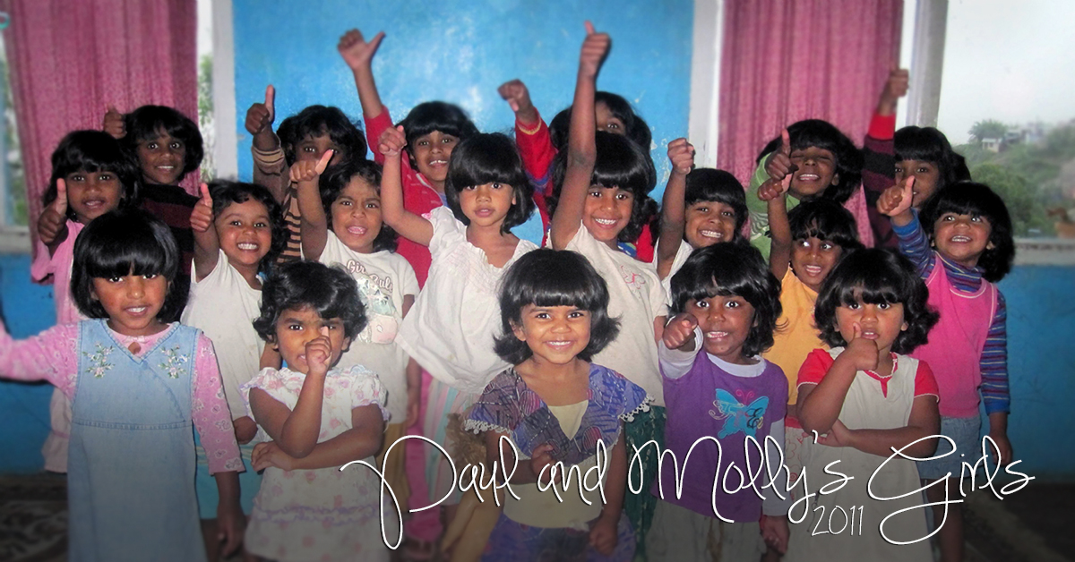 Paul and Mollys girls, 2011, India