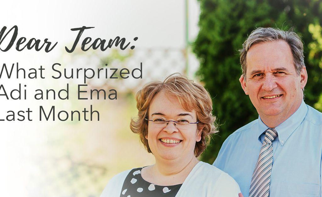 Adi and Ema Ban, Steve Evers, Dear Team, Romania