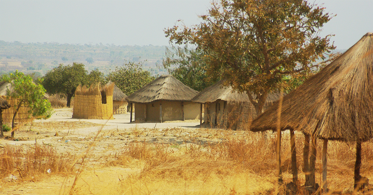 Zambia, remote village