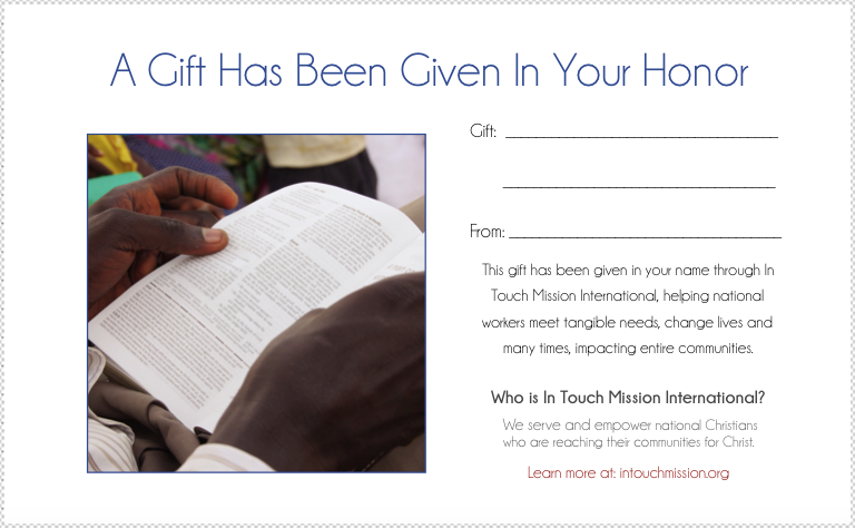 bible in your honor card image