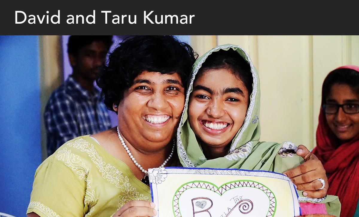 Donate, david and taru, india