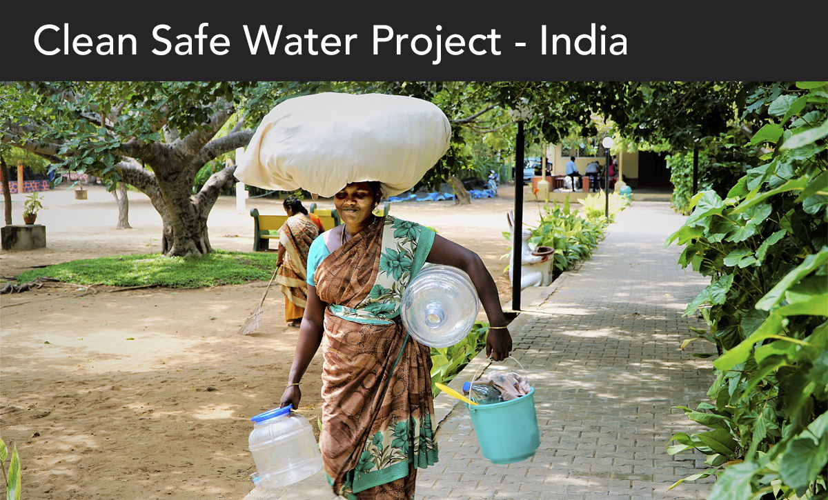 donate, clean safe water project, india