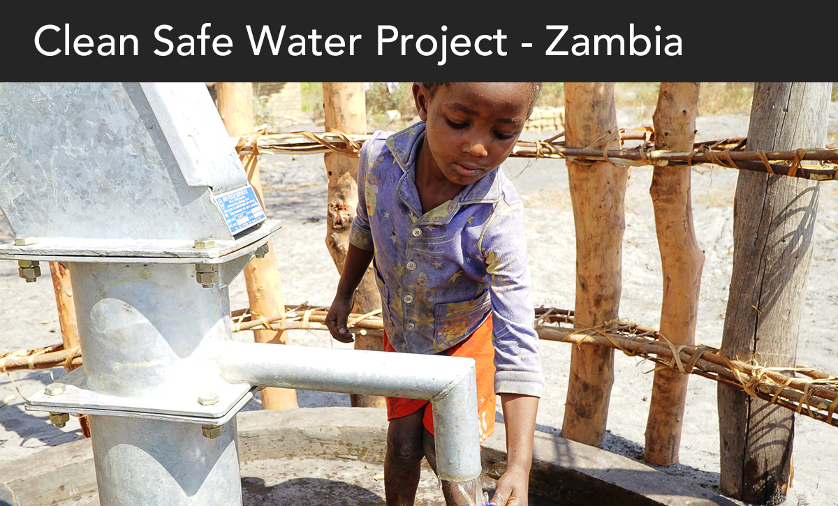Donate, Clean Safe Water Project, Zambia