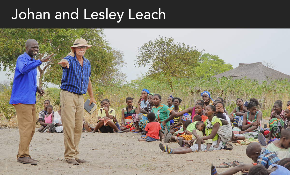 Donate, Johan Leach, Lesley Leach, Johan and Lesley Leach, Zambia