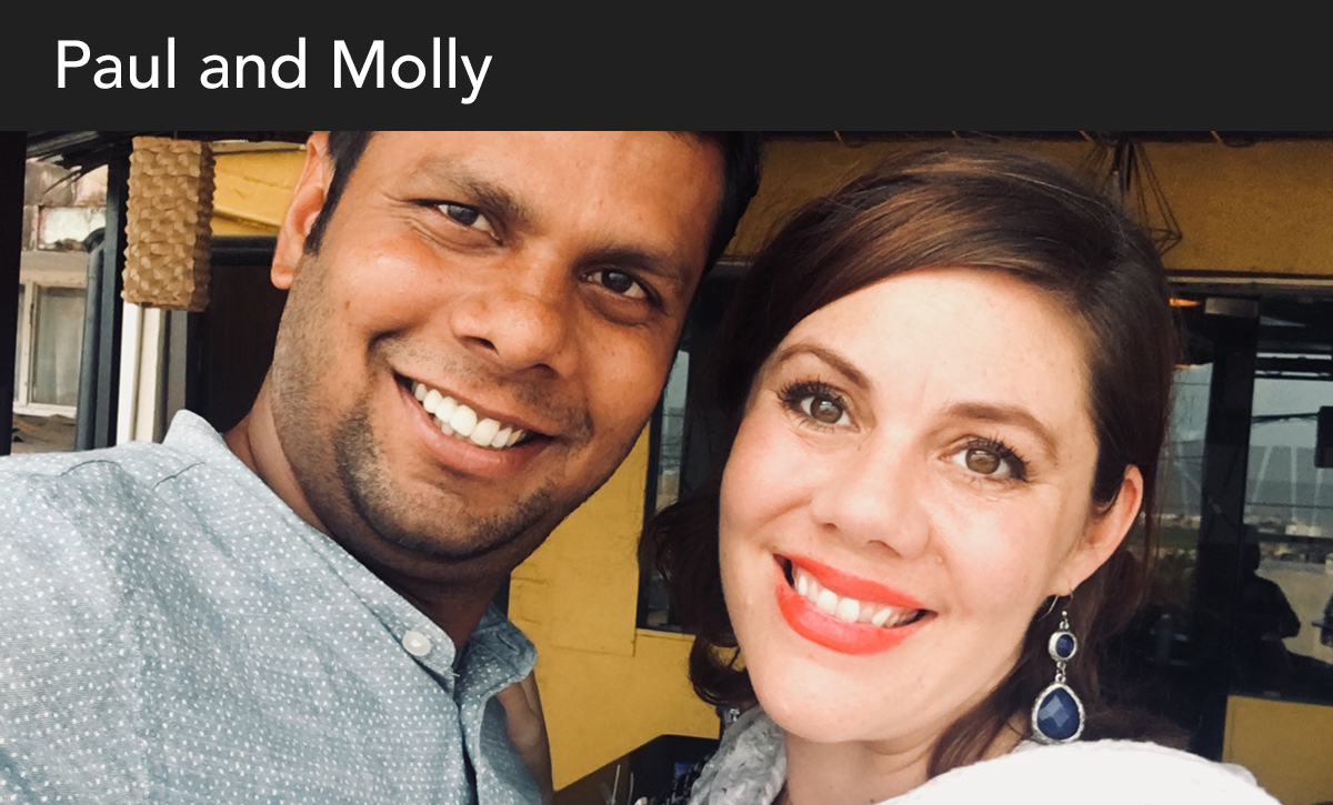 donate, paul and molly, india