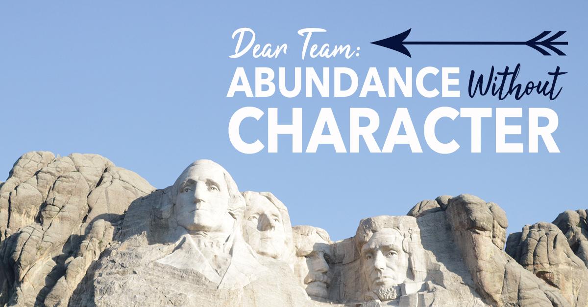 Abundance without Character