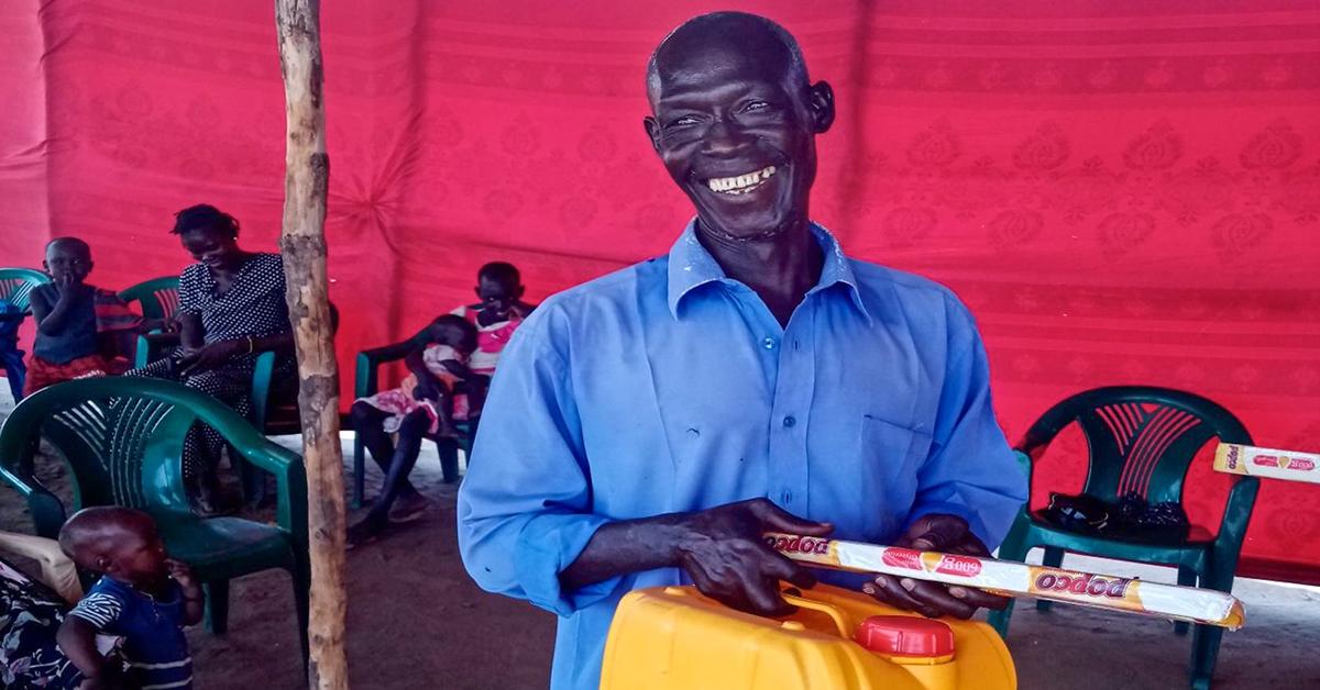 handwashing kit, south sudan, lazarus yezinai