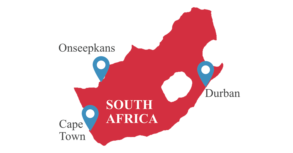 south africa, map