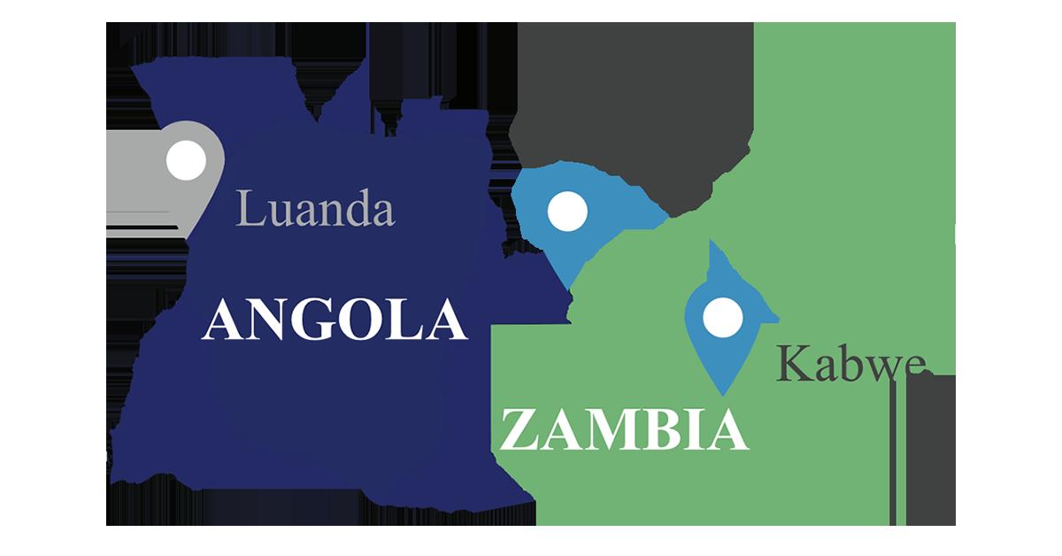 zambia, map